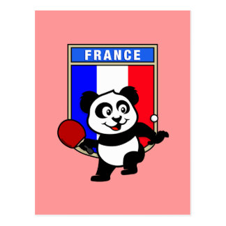 フランスの卓球のパンダ ポストカード