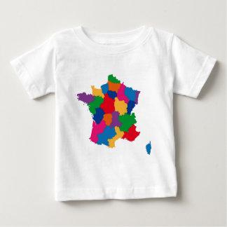 フランスの地図 ベビーTシャツ