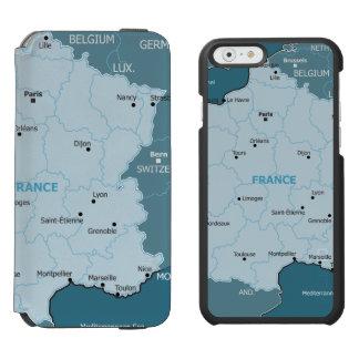 フランスの地図 INCIPIO WATSON™ iPhone 5 財布型ケース