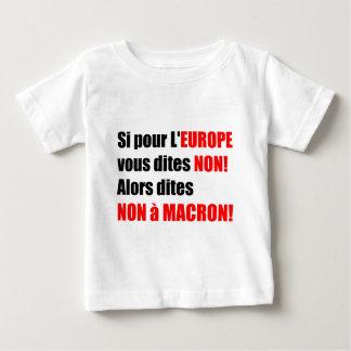 フランスの大統領選挙2017年-ベビーのティー ベビーTシャツ