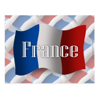 フランスの振る旗 ポストカード