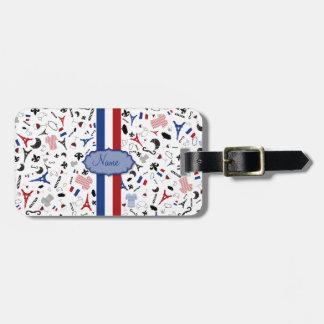 フランスの旗が付いているフランスのなアイコンに走行して下さい ラゲッジタグ
