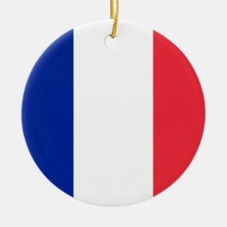 フランスの旗のオーナメント セラミックオーナメント
