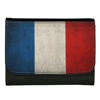 フランスの旗のDrapeauレトロのグランジなdeのlaフランス ウォレット