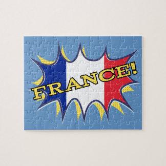 フランスの旗のKapowの喜劇的なスタイルの星 ジグソーパズル