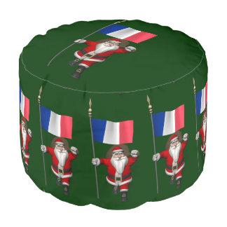 フランスの旗を持つサンタクロース プーフ