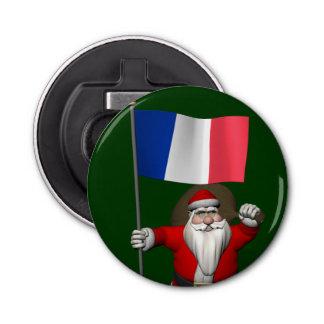 フランスの旗を持つサンタクロース 栓抜き