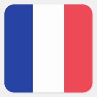 フランスの旗、三色の国旗 スクエアシール