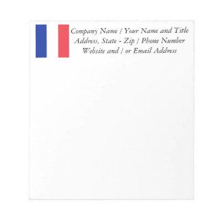 フランスの旗、三色の国旗 ノートパッド