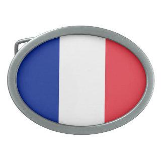 フランスの旗、三色の国旗 卵形バックル