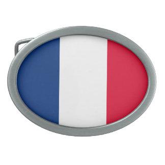 フランスの旗 卵形バックル