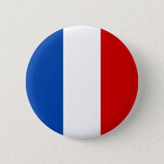 フランスの旗 5.7CM 丸型バッジ