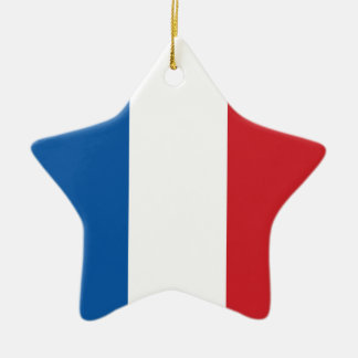 フランスの明白な旗 セラミックオーナメント