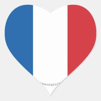 フランスの明白な旗 ハートシール