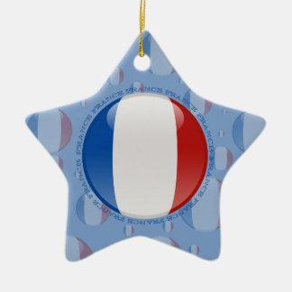 フランスの泡旗 セラミックオーナメント