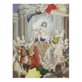 フランスの王ルイ14世の勝利 ポストカード
