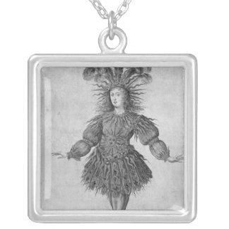 フランスの王ルイ14世 シルバープレートネックレス