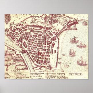 フランスの素晴らしい地図 ポスター