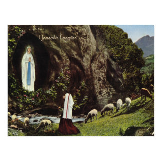 フランスの聖母マリアのStバーナデットの視野 ポストカード