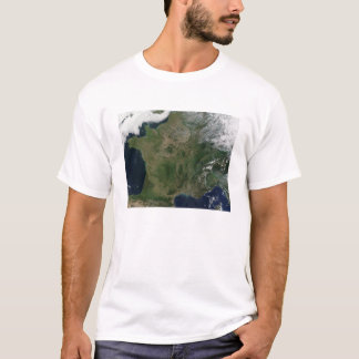 フランスの衛星眺め Tシャツ