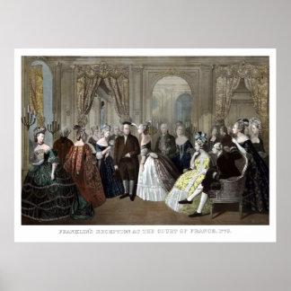 フランスの裁判所のフランクリンの披露宴 ポスター
