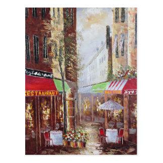 フランスの通りの郵便はがき ポストカード