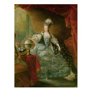 フランスのMarieアントワネットの女王のポートレート ポストカード