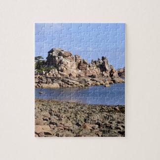 フランスのPloumanac'hの海岸線 ジグソーパズル