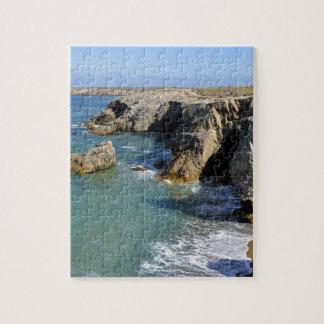 フランスのQuiberon半島の岩が多い海岸 ジグソーパズル