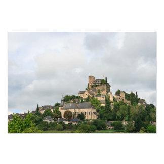 フランスのTurenneの村 フォトプリント
