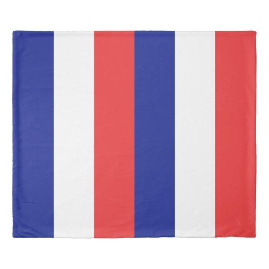 フランスまたはTricoloreの旗 掛け布団カバー