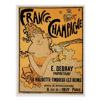 フランスシャンペンのヴィンテージのワインの飲み物の広告の芸術 ポスター