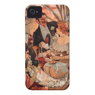 フランス人のアールヌーボーの公表ポスター Case-Mate iPhone 4 ケース