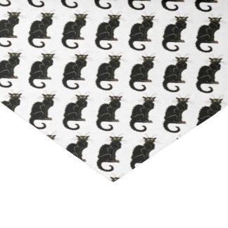 フランス人のアールヌーボーの黒猫-ティッシュペーパー 薄葉紙