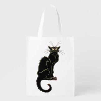 フランス人のアールヌーボーの黒猫-買い物袋1 エコバッグ