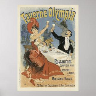 フランス人のアールヌーボーポスター- Taverneのオリンピア ポスター