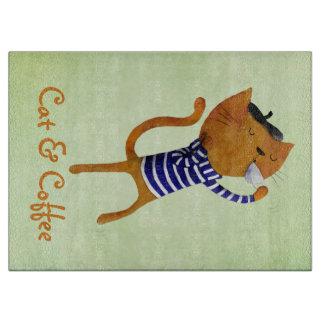 フランス人のクールな猫 カッティングボード