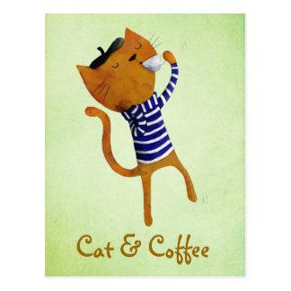 フランス人のクールな猫 ポストカード