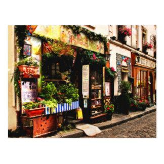 フランス人の店の郵便はがき ポストカード