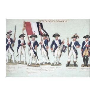 フランス人の間のパリの軍隊 キャンバスプリント