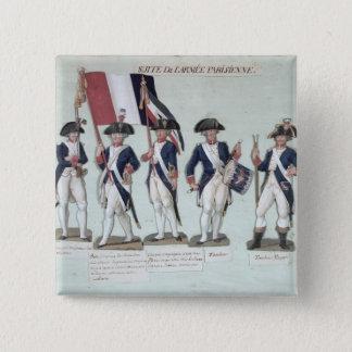 フランス人の間のパリの軍隊 5.1CM 正方形バッジ