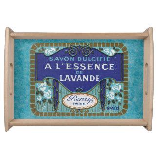 フランス人のLavdenderの旧式な石鹸 トレー