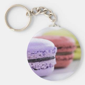 フランス人のMacaronの紫色およびあずき色のクッキー キーホルダー