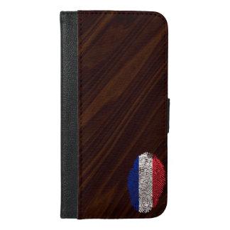 フランス人のtouchの指紋の旗 iPhone 6/6s plus ウォレットケース