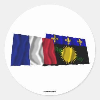 フランス及びグアダループの振る旗 ラウンドシール
