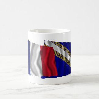 フランス及びシャンペンArdenneの振る旗 コーヒーマグカップ