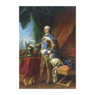 フランス及びナバール1750年のルイXV王 キャンバスプリント