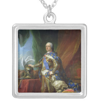 フランス及びナバール1750年のルイXV王 シルバープレートネックレス