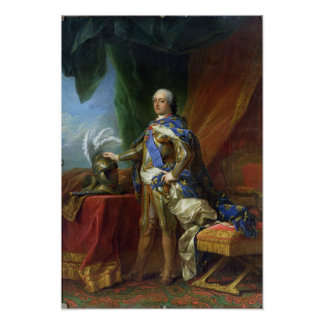 フランス及びナバール1750年のルイXV王 ポスター