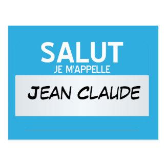 フランス語はこんにちは私の名前…カスタマイズ可能です ポストカード